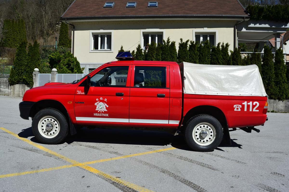 Manjše gasilsko vozilo za gašenje gozdnih požarov GVGP-1
